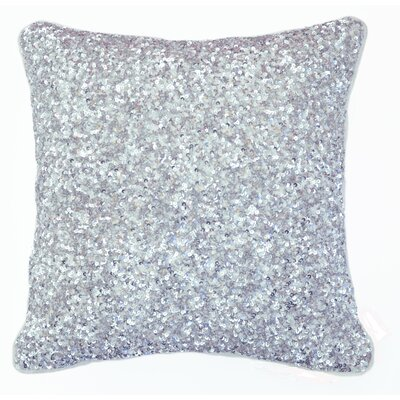 Arabella Sequin Cotton Accent Pillow Color: Silver, Size: 16 x 16
