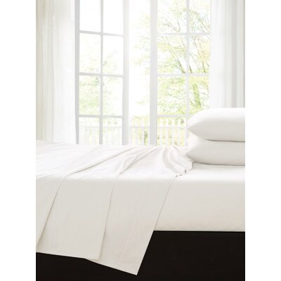 Ingles 200 Thread Count 100% Cotton Sheet Set Color: White