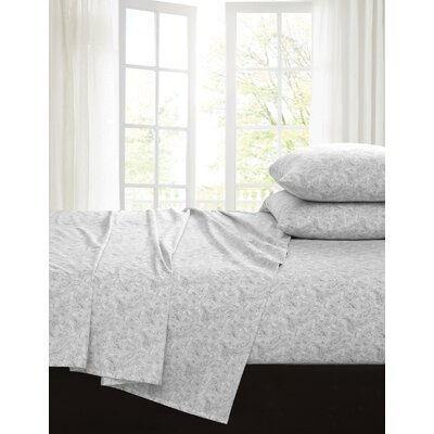 Inverness 200 Thread Count 100% Cotton Sheet Set Color: Gray, Size: Twin