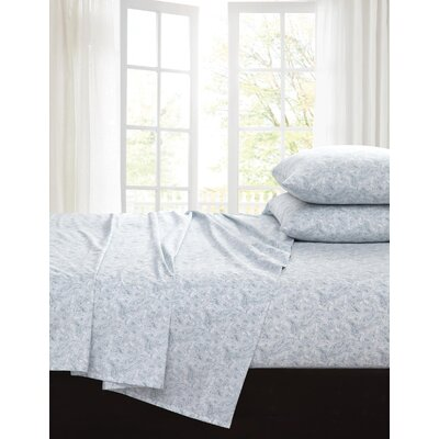 Inverness 200 Thread Count 100% Cotton Sheet Set Color: Dust Blue, Size: Queen