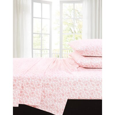 Taz 200 Thread Count 100% Cotton Sheet Set Size: Full, Color: Coral