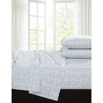 Taz 200 Thread Count 100% Cotton Sheet Set Size: Full, Color: Dust Blue