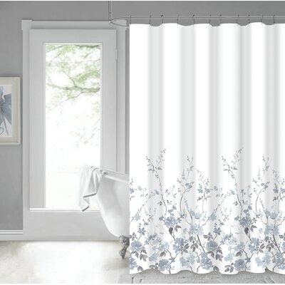 Eugen 100% Cotton Shower Curtain Color: White
