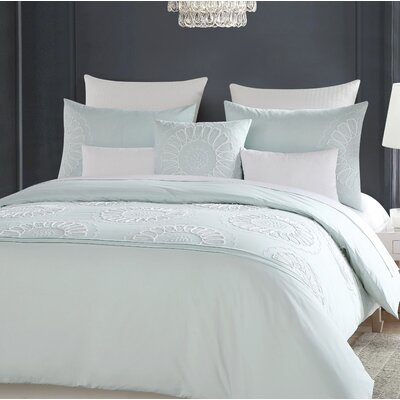 Christon Embroidered 100% Cotton 6 Piece Comforter Set