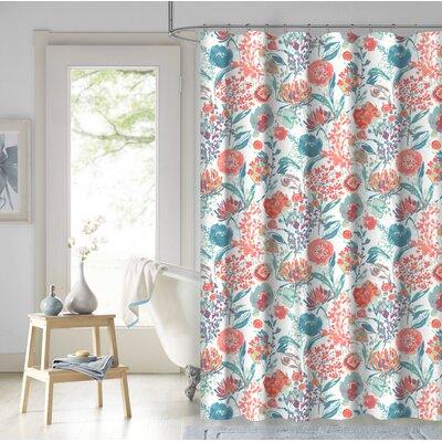 Estinville Garden 100% Cotton Shower Curtain