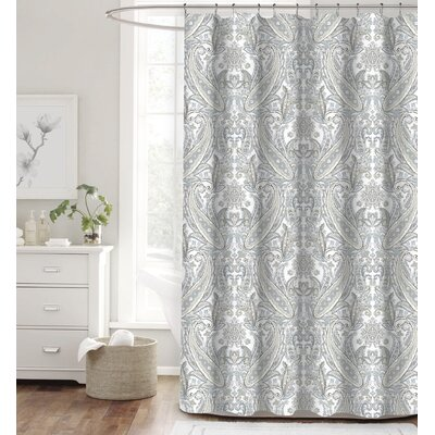Besaw Stone Paisley 100% Cotton Shower Curtain