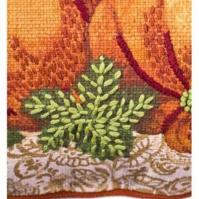 Mccray Pumpkin Harvest 100% Cotton Throw Pillow