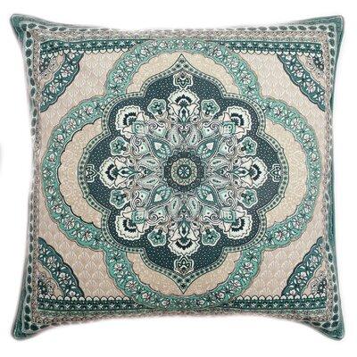 Lowellville Scallop Sunrise Reversible 100% Cotton Throw Pillow Color: Teal