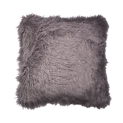 Rusnak Faux Fur Throw Pillow Color: Gray