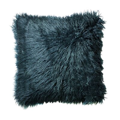 Rusnak Faux Fur Throw Pillow Color: Teal