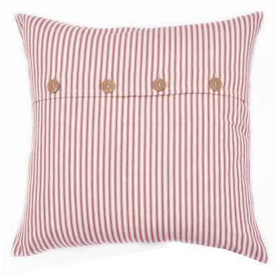 Pizano Candy Cane Button Cotton Throw Pillow