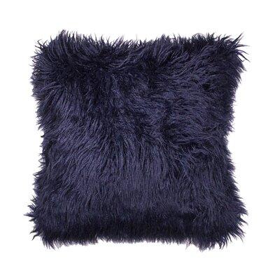 Rusnak Faux Fur Throw Pillow Color: Blue