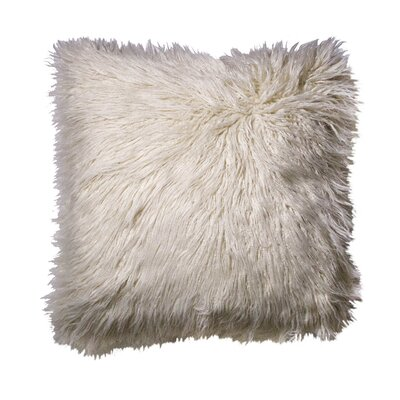 Rusnak Faux Fur Throw Pillow Color: White