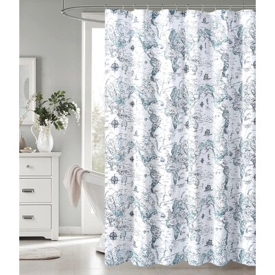 Dastoor Exploration 100% Cotton Shower Curtain
