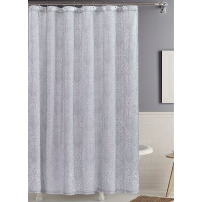 Edeline Mauve Scroll 100% Cotton Shower Curtain