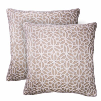 Lucretia Embroidered Throw Pillow