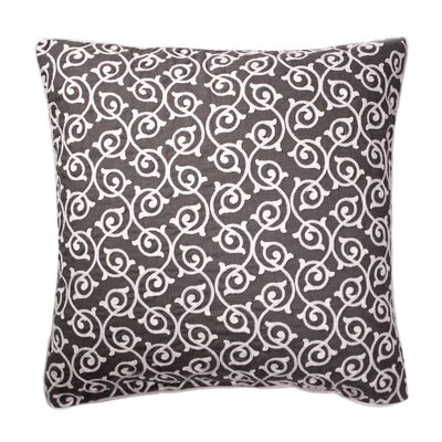 Theophania Embroidered Throw Pillow Color: Gray