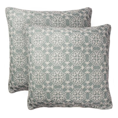 Tryphosa Embroidered Throw Pillow