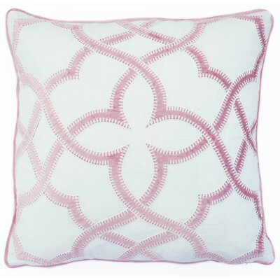 Byron Embroidered Throw Pillow Color: Dusty Pink