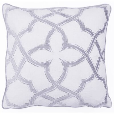 Byron Embroidered Throw Pillow Color: Light Gray