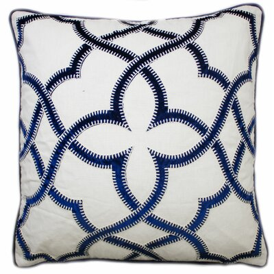 Byron Embroidered Throw Pillow Color: Navy