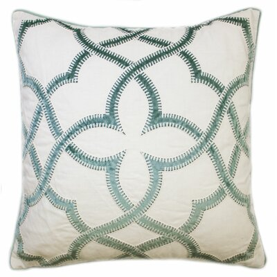 Byron Embroidered Throw Pillow Color: Sage