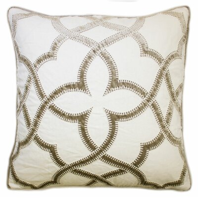 Byron Embroidered Throw Pillow Color: Tan