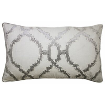 Cadbury Embroidered Lumbar Pillow Color: Light Gray