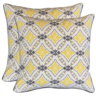 Cusick Printed 100% Cotton Throw Pillow