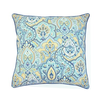 Enrico Printed 100% Cotton Throw Pillow