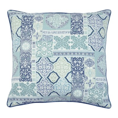 Amiyah Printed 100% Cotton Throw Pillow Color: Blue
