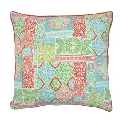 Amiyah Printed 100% Cotton Throw Pillow Color: Green/Red