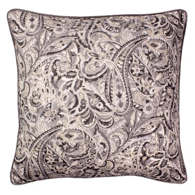 Dilip Printed 100% Cotton Throw Pillow Color: Gray