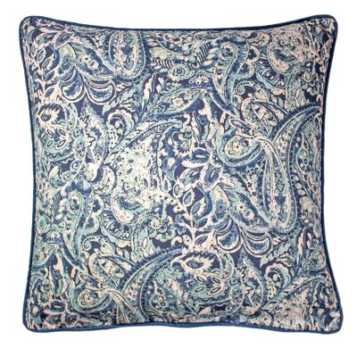 Dilip Printed 100% Cotton Throw Pillow Color: Navy
