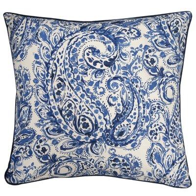 Gussie Printed 100% Cotton Throw Pillow Color: Indigo