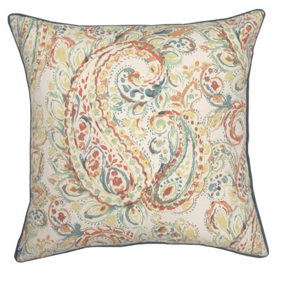 Gussie Printed 100% Cotton Throw Pillow Color: Seafoam