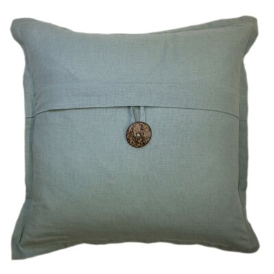 Bainbridge Button Cotton Throw Pillow Color: Seafoam