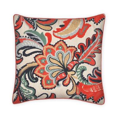 Campos Embroidered 100% Cotton Throw Pillow