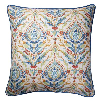 Campton Printed 100% Cotton Throw Pillow Color: Blue/Red