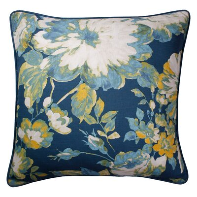 Pinedo Printed 100% Cotton Throw Pillow Color: Navy
