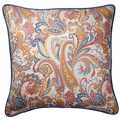 Cynthiana Printed 100% Cotton Throw Pillow Color: Brown/Blue