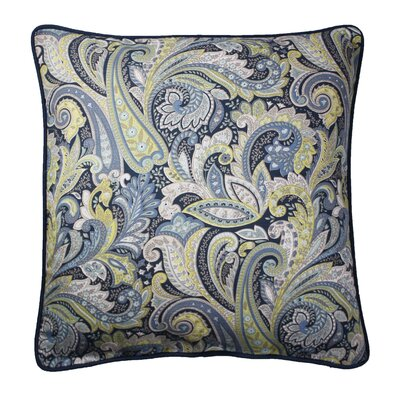 Cynthiana Printed 100% Cotton Throw Pillow Color: Navy