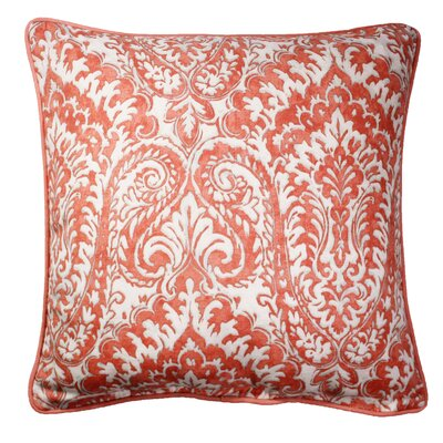 Canales Printed Throw Pillow Color: Coral