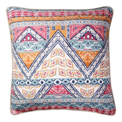 Bearpaw Printed 100% Cotton Throw Pillow Color: Red/Blue