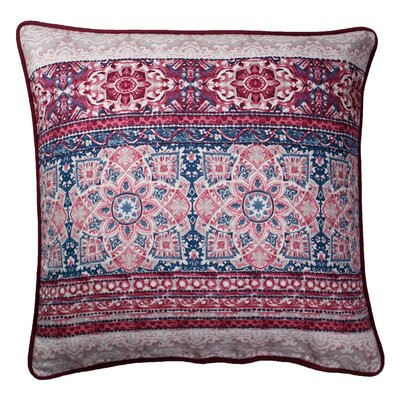 Abigayle Printed 100% Cotton Throw Pillow Color: Raspberry