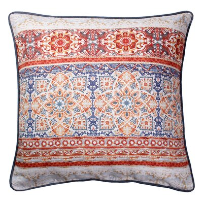 Abigayle Printed 100% Cotton Throw Pillow Color: Tangerine