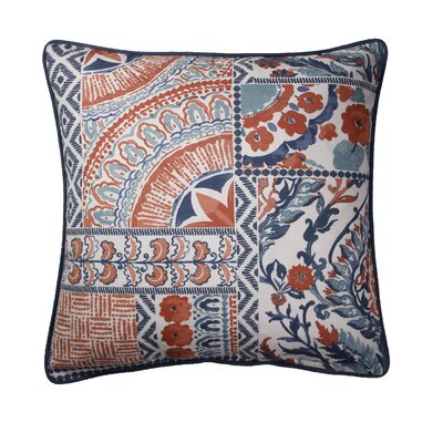 Tayla Printed 100% Cotton Throw Pillow Color: Coral