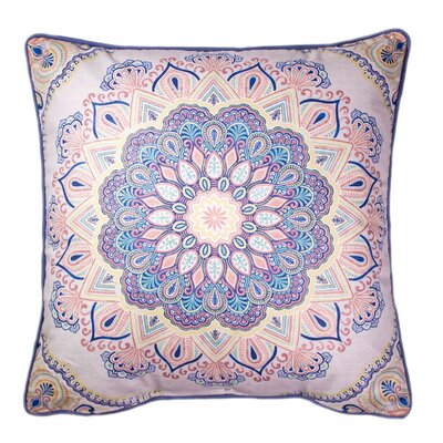 Kathy Printed 100% Cotton Throw Pillow Color: Pink/Navy