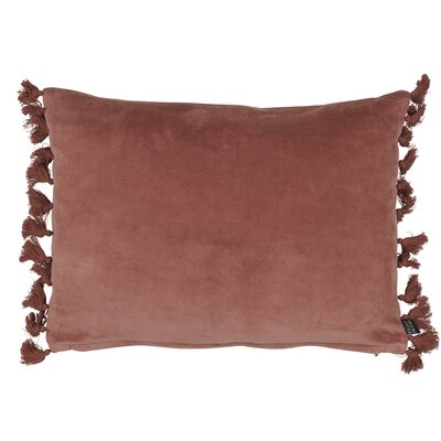 Roots Fringes Cotton Lumbar Pillow Color: Rust