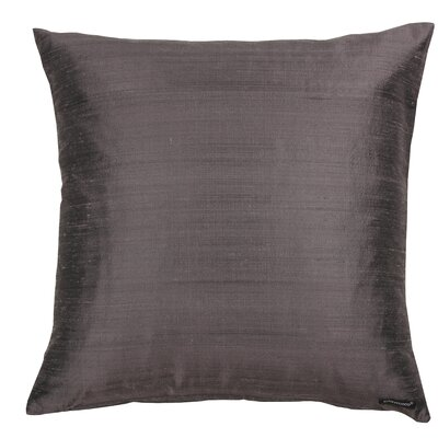 Essentials Dupion Silk Throw Pillow Color: Anthracite